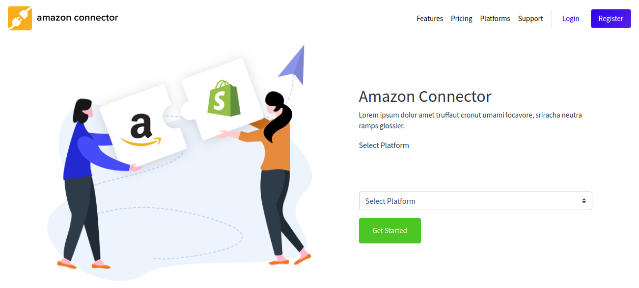 select the platform in amzon saas