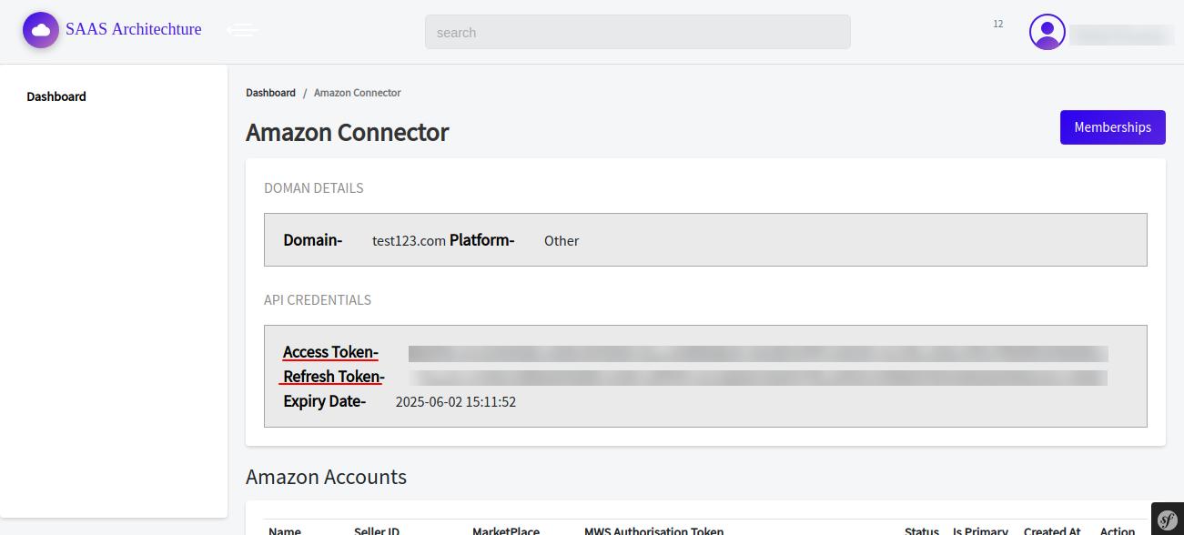 amazon saas API Credentials