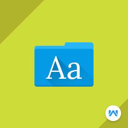 Laravel eCommerce Google Web Fonts