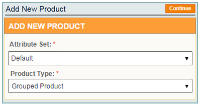 add grouped product