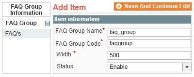 add faq groups