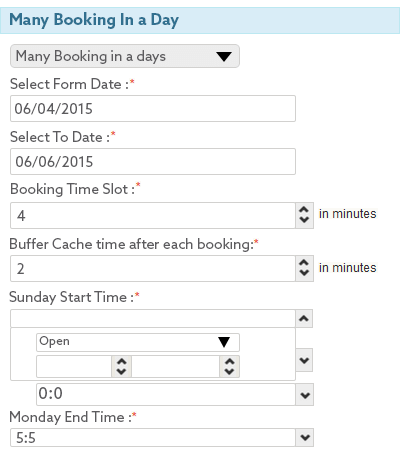 many booking in a day
