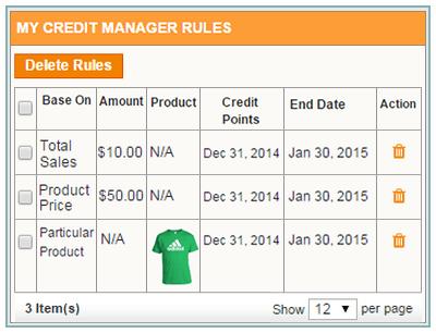 credit rules
