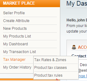 Seller tax manager