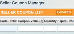 generate coupon