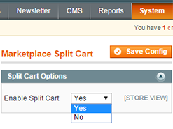 split cart management