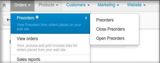 provides separate pre-order data