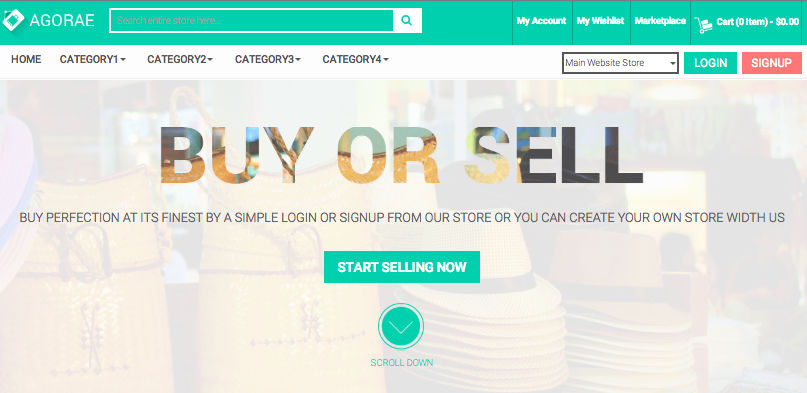 magento marketplace template landing page